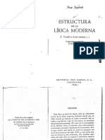 Friedrich Hugo Estructura de La Lírica Moderna