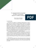 M. Merino. La Preposición Diá en El Griego Del NT. Ensayo de Análisis Semántico