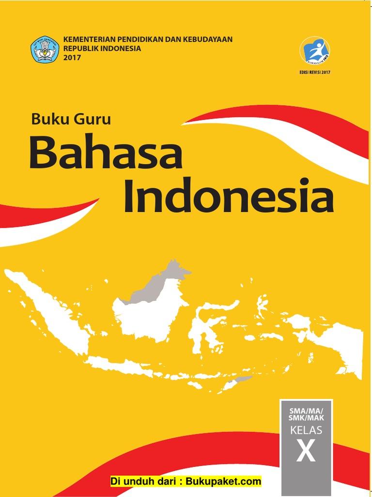 Buku Guru Kelas 10 Bahasa Indonesia Pdf