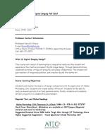 UT Dallas Syllabus for atec2382.004.10f taught by David Hrisco (hrisco)