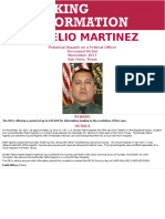 Reward Poster for BP Agent Martinez