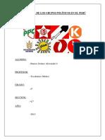 La Historia de Los Grupos Políticos en El Perú