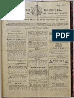 Observador N11 Sobre La Representacion Noviembre 1828