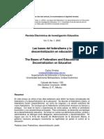 2003_Ornelas_Bases del federalismo y la descentralización en educación.pdf