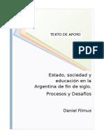 .Filmus - Estado Sociedad y Educacion en La Argentina
