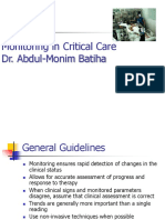 Monitoring in Critical Care