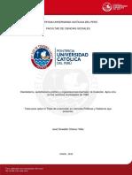 Chavez Villar Jose Oswaldo Clientelismo