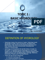Hydrology (Topic1)