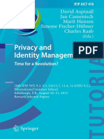Privacy and Identity Management