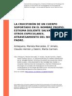 Antequera, Mariela Mercedes, Do Amato (..) (2012). La Crucifixion de Un Cuerpo Soportado en El Nombre Propio. Estigma Doliente Salvador d (..)