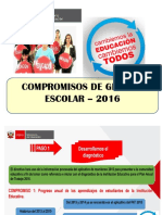 6 Compromisos de Gestion Educativa Para El 2016