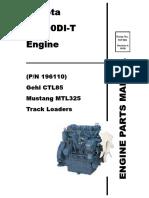CTL85 Compact Track Loader Kubota V3800DI T Engine Parts Manual 917328