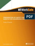 Preparation Safety Data Sheets for Hazardous Chemicals Cop