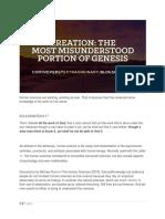 Creation the Most Misunderstood Portion of Genesis
