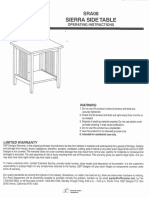 OSP Designs Sierra Side Table Assembly and Care Guide