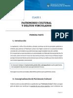 CLASE_1 - Patrimonio Cultural y Delitos Vinculados