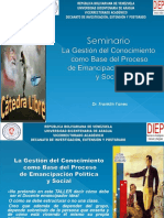 LA GESTION DEL CONOCIMIENTO COMO BASE DEL PROCESO DE EMANCIPACIÓN HUMANA POLITICA Y SOCIAL.pptx