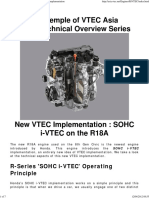 Technical Overview of Honda's New R18 I-VTEC Implementation