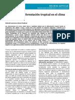 Efectos de La Deforestación Tropical en El Clima y La Agricultura
