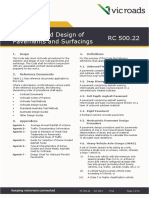 Code of Practice RC 50022 Selection and Design of Pavements and Surfacings