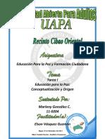 Actividad de La Unidad I EDU436