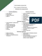 CUESTIONARIO PSIQUIATRIA