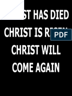 CHRIST HAS DIED.ppt