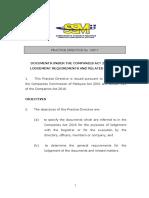 Practice Directive 1-20172