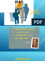 VALOR DE LA INTEGRIDAD ETICA