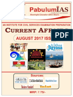 Current Affairs August 2017 - Pabulum IAS