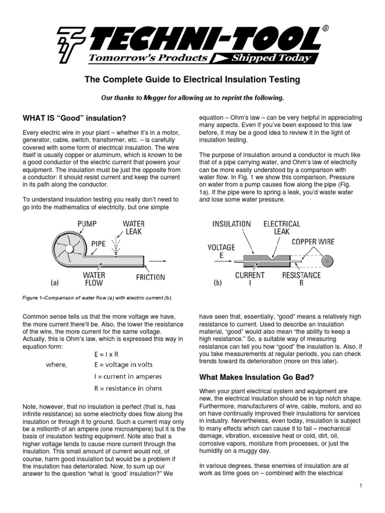 megger the complete guide to electrical insulation testing rh es scribd com
