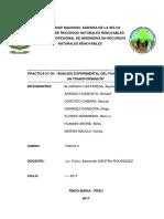 Informe 9 Analisis Experimental Del Funcionamiento de Un Transformador