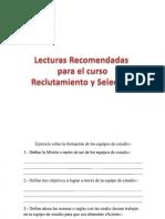 Lecturas R y S
