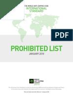 Prohibited List 2018 En