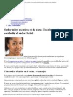 Sudoración Excesiva en La Cara_ Excelentes Tips Para Combatir El Sudor Facial 2017
