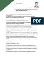 Reporte X Congreso de Gobierno y Gestión Pública