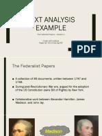 2017 11 16 - Text Analysis - Federalist