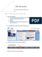 SAP Live Access Instructions (002)