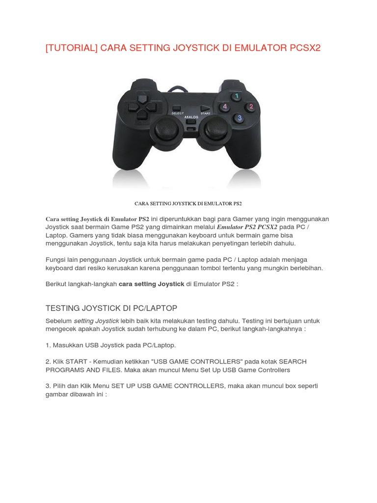 Cara Setting Joystick Di Emulator Pcsx2