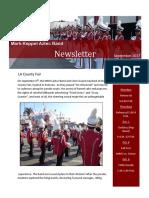 september 2017 band newsletter