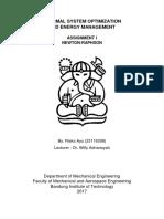 Thermal System Optimization-Newton Raphson