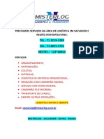 AGENCIA DE CARGAS CANDEIAS:71 3219-2283 ID:123*40462