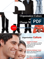 Organisation Culture and Change