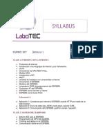 Syllabus Iot