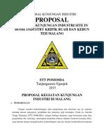 Contoh Proposal Kunjungan Industri