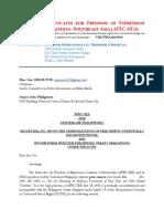 AFEC-SEA Statement on Senate Bill No. 1492