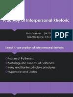 A Survey of Interpersonal Rhetoric