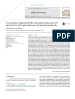 A Secure Light Weight Scheme for User Authentication and Key Agreement in Multi-gateway Based Wireless Sensor Networks
