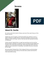 Novena to Saint Cecilia (English)