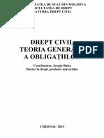 Drept Civil Teoria Generala a Obligatiilor